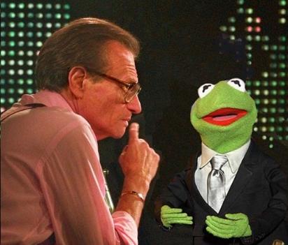 Ларри кинг берет интервью у Кермита