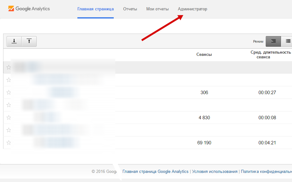 Создание нового счетчика в Google.Analytics