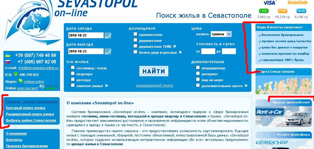 Анализ сайта Sevastopol-online
